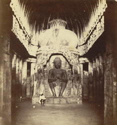 Interior of Buddhist Chaitya Hall, Cave X (Viskakarma), Ellora